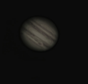 """Taken with a 6"""" telescope under a hazy but somewhat clear sky."""