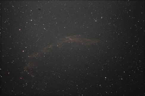 Veil Nebula - Unfortunately this one was taken just before sunrise and just as my battery died. I'll try it again in the fall for a better result.